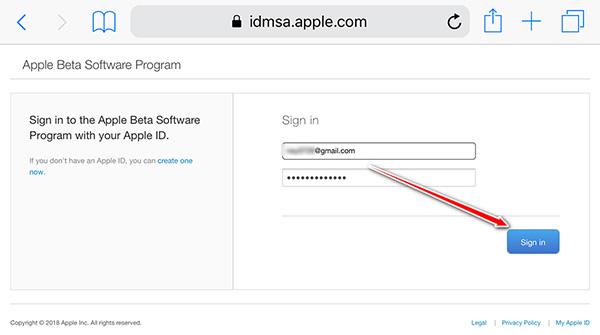 ベータソフトウェアプログラムに登録