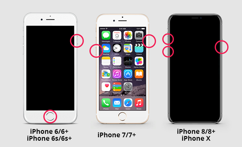 iPhone、iPadを強制再起動