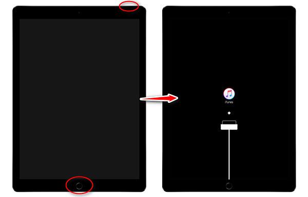 iPadをリカバリーモード